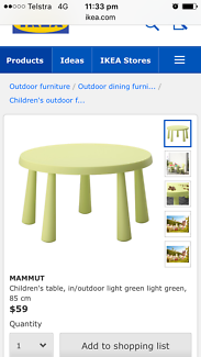 IKEA children's table and two chairs