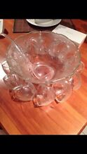Glass punch bowl with cups Mount Sheridan Cairns City Preview