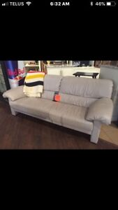 LEATHER COUCH $ 75