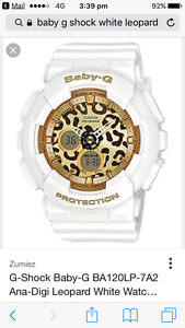 Lost Baby-G white watch Hillarys Joondalup Area Preview