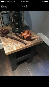 Reclaimed Wood Side Tables