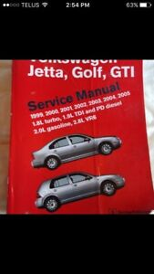 Bentley Publishing A4 VW service manual for Jetta, Golf, GTI
