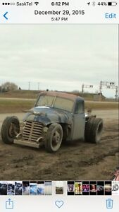 1954 rat rod Chevy dually