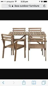 IKEA OUTDOOR TABLE AND CHAIRS Magill Campbelltown Area Preview