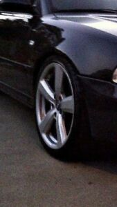 "Audi 18""x9"" 5 star rims with 90% rubber"