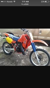 Cr500/cr250 any year liquid cooled running or not
