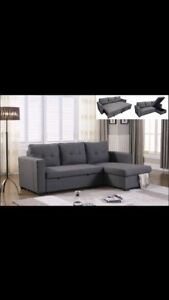 •••••Ruby Sectional Sofa Bed With Storage•••••