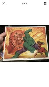 The Incredible Hulk print signed by Rich Larson