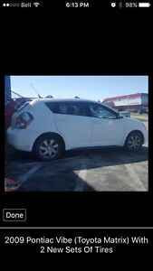 2009 Pontiac Vibe (Toyota Matrix) With 2 New Sets Of Tires