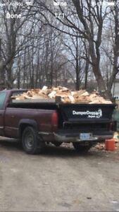 Hardwood firewood cut split delivered