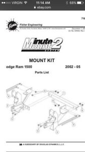 Wanted! 2002 dodge fisher plow mounts