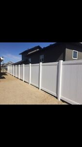 PVC fence and temporary construction fence