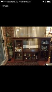 Display cabinet good condition Hinchinbrook Liverpool Area Preview