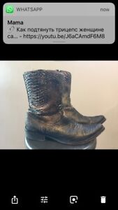 Cowboy boots size 10-10.5 leather