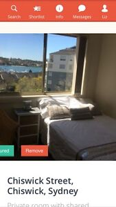 """Room with a spectacular water view """"Abbotsford"""" inner west $390 inc Abbotsford Canada Bay Area Preview"""