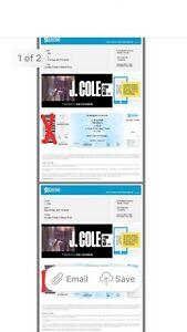 2x J Cole Sydney Concert Tickets Cranebrook Penrith Area Preview