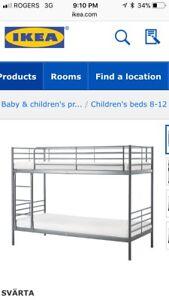 Top bunk of bunk bed
