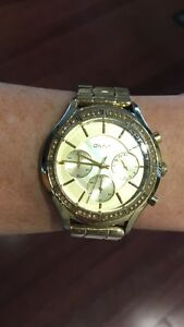 DKNY Gold Watch with New Battery
