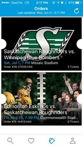 Saskatchewan Roughriders August 25th
