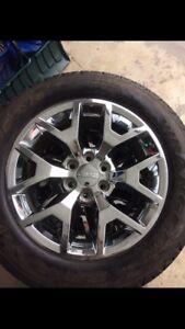 "20"" chrome rims and Goodyear wrangler tires"