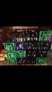 80x  home brew beer bottles 500ml crown seal very clean Rockdale Rockdale Area Preview