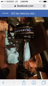 4.5 hp  mercury outboard