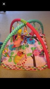 Baby girls play mat & various toys