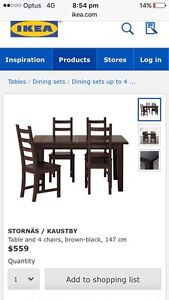 ****Ikea dining table and chairs set **** priced to sell Wembley Cambridge Area Preview