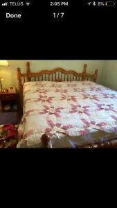 King size mattress and frame.  Reduced