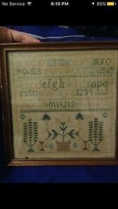 Late 1800-1900 child's sampler antique
