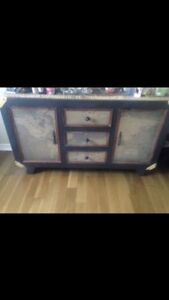 USED FOR STAGING! BOMBAY CO. World map storage accent piece!