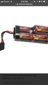 Wanted traxxas battery's or similar