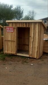 Rustic 4 x 7 shed just built