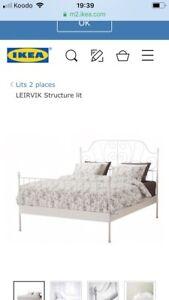 Structure de lit deux places