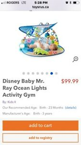 Disney Baby Mr. Ray Ocean Lights Activity Gym play mat