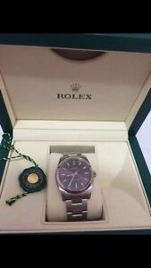 Rolex oyster with red grape