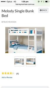 Single white bunk beds Camp Hill Brisbane South East Preview