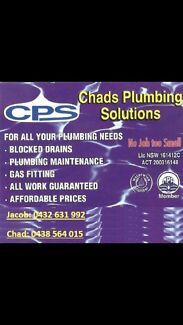 Chads plumbing solutions Queanbeyan Area Preview