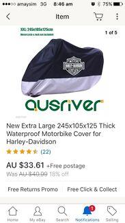 Wanted: Harley Davidson motor bike cover NEW
