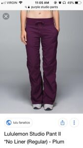 Lululemon Purple studio pants