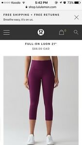 New Lululemon Crops