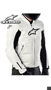 Alpinestars leather jacket white , size 42 US Harrison Gungahlin Area Preview