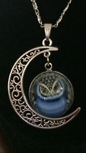 NEW owl / moon necklace
