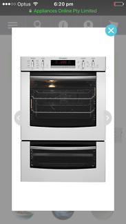 PDR790S Westinghouse built-in double oven - under warranty