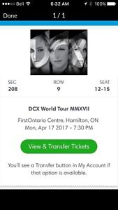 Four Dixie chicks tickets