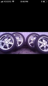 "Mint condition 22"" Rims and Tires"