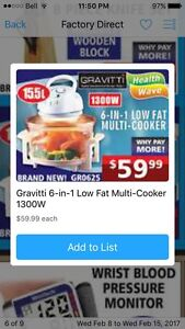 Gravity 6 in 1 low fat multi cooker
