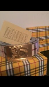 Authentic lather Burberry belt, brand new never worn,
