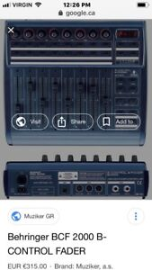 Midi BCF2000 great for DJ sets or use with any DAW