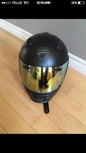 Ducati helmet with gold visor